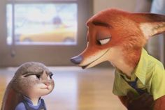 Judy and nick talking at the dmv Disney Animated Films, Disney Films, Disney And Dreamworks, Disney Pixar, Nick And Judy Comic, Zootopia Art, Film D, Judy Hopps, Walt Disney Animation Studios