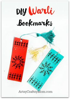 Warli art is a unique tribal art form that uses very basic shapes. Even kids can get introduced to Warli art by making these easy DIY Warli Bookmarks! Worli Painting, Painting For Kids, Madhubani Art, Madhubani Painting, Art For Kids, Kid Friendly Art, Drawing Lessons For Kids, Indian Arts And Crafts
