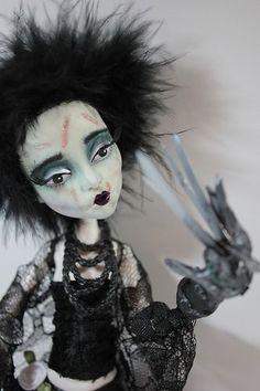 Edwina Scissorhands Monster High - Version 6 OOAK Repaint Emo Horror Gothic Fantasy Art Doll | eBay
