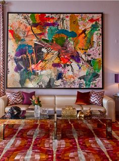 Colorful living room from Bethany Nauert's Portfolio. Get the look!