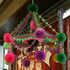 Pajaki - traditional Polish mobile of paper, straw and yarn.