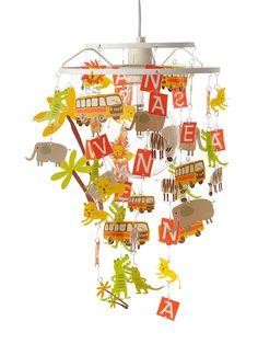Vertbaudet Lampenschirm mit Safari-Motiven in safari