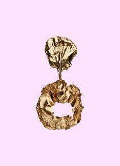 STRANGER CHUNKY EARRING  Stranger Earring  Gold-coated silver   Limited Edition  5,200DKK