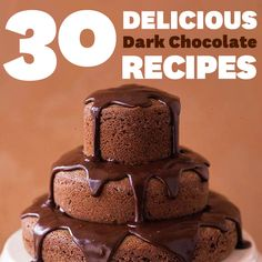 You'll love these delicious dark chocolate desserts! Recipes Available Here: http://www.bhg.com/recipes/desserts/chocolate/dark-chocolate-dessert-recipes/