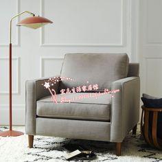 Nordic American country after modern European minimalist Ikea Cheap cotton cloth leisure sofa single image - Taobao