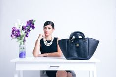 Model Amira rocking the photo shoot featuring the Lizzie Satchel.  www.tohnibekka.com Photographer- Rob The Moment Visual Co.