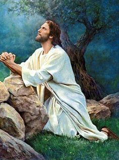 Christ in the garden Pictures Of Jesus Christ, Religious Pictures, Religious Art, Jesus Tattoo, Christian Artwork, Saint Esprit, Jesus Painting, Jesus Christus, Biblical Art