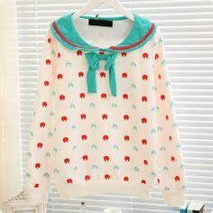 Cute colorful aqua sailor shirt for 30 yuan from fayexi.taobao