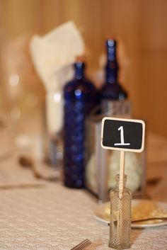 Table number and center piece