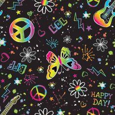 "Neon Doodle Gift Wrap | 5' x 30"" for $2.73 in Neon Doodle - Children's Birthday - Birthday"