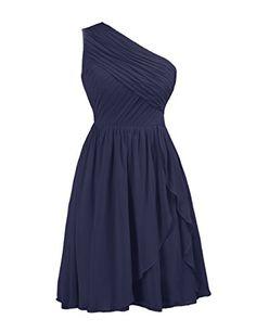 A-line Dark Navy Chiffon Bridesmaid Dresses Blue Bridesmaid Dresses Short, Homecoming Dresses, Short Dresses, Navy Bridesmaids, Bridesmaid Ideas, Dressy Dresses, Nice Dresses, Maid Of Honour Dresses, Chiffon Gown
