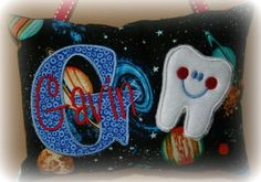 Tooth Fairy Pillow for Boys Personalized by SandDStitches on Etsy, $22.50