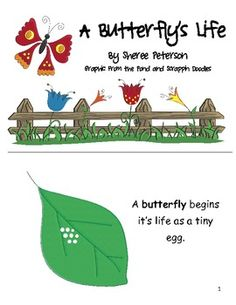 Teach your students about the life of a butterfly with this fun, informative non-fiction booklet. The booklet comes in black and white or color. It...