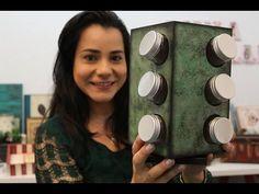 DIY   Faça Você Mesmo   Cachepo com Decoupage Guardanapo  Livia Fiorelli   Life Artesanato - YouTube