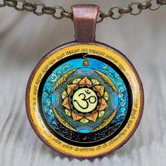 Om mandala Pendant,