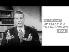 Billy Graham's 1952 Thanksgiving Message