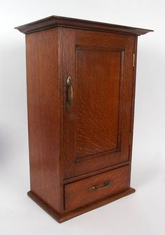 James Miles: Arthur Simpson of Kendal Oak Table Cabinet, circa Arts And Crafts Furniture, Small Furniture, Wooden Furniture, Wall Cupboards, Wood Cabinets, Small Cabinet, Oak Table, Wood Boxes, Art Decor