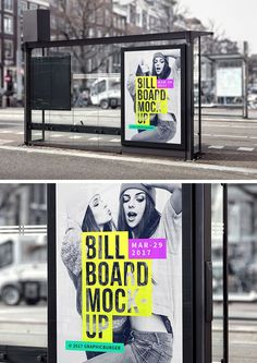 The freebie of the day is a bus stop billboard mock-up to help you create a presentation for your advertising...