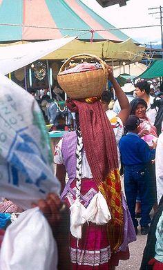 Zapotec Woman At the Tlacolula market, Oaxaca