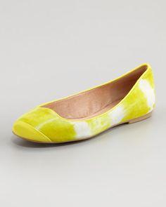 Lemon Suede Ballerina Flat by Pelle Moda at Neiman Marcus.