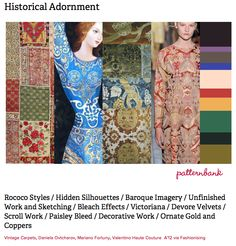 Historical Adornment, print forecast by Patternbank, http://patternbank.com/premiere-vision-indigo-autumn-winter-2013-14-trend-report-preview/