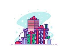 Christmas Presents by Razvan Vezeteu #Design Popular #Dribbble #shots