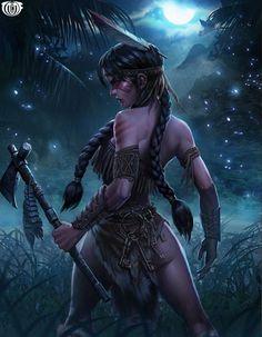 Ancient World Warrior Women~ Afrika Is Woke Fantasy Female Warrior, Warrior Girl, Warrior Princess, Female Art, Warrior Women, Fantasy Art Women, Dark Fantasy Art, Fantasy Girl, Fantasy Artwork