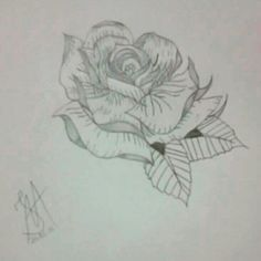 Draw #17 Flower/Black&Gray