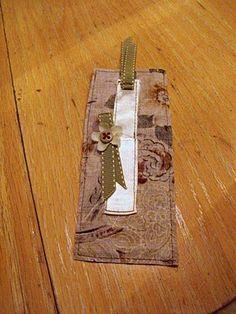 Handmade Wednesday: Fabric Bookmark