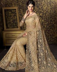 Looking for latest designer party wear sarees or traditional party wear sarees? Shop online from the party saree collection at Utsav Fashion for fancy party sarees. Buy Designer Sarees Online, Designer Sarees Collection, Saree Collection, Indian Attire, Indian Outfits, Indian Wear, Indian Sarees Online, Net Saree, Party Wear Sarees