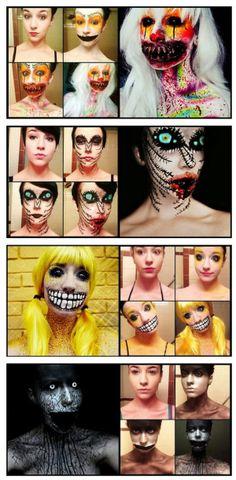 Leer también en Halloween Halloween Make Up, Halloween Face Makeup, Halloween Ideas, Make Up Art, How To Make, Creepy Makeup, Maquillaje Halloween, Happy Birthday Balloons, Halloween Disfraces
