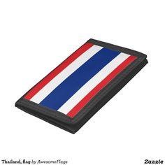 Thailand, flag tri-fold wallet
