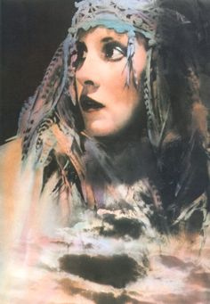 Stevie Nicks Love this watercolor of her. Used to have in my room.