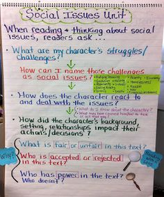 Anchor charts Two Reflective Teachers: Social Issues Book Club Unit Ela Anchor Charts, Reading Anchor Charts, Reading Skills, Teaching Reading, Teaching Ideas, Reading Lessons, Reading Activities, Guided Reading, Reading Notes