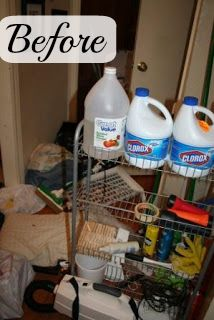 Organizing the Laundry Room (with before and after pictures) at A Slob Comes Clean.com