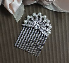 Bridal Hair Accessories Crystal Bridal Hair Comb by JamJewels1