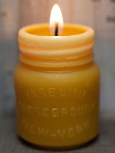 """Drey Mason Jar and Vaseline"" Beeswax Candle Set £22.39 @ Etsy."