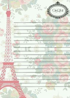 Eiffel Tower carta.