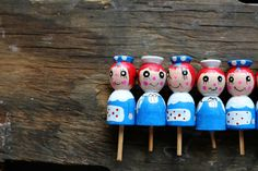 Vintage Raggedy Ann and Andy Birthday Candle Holders on Etsy, $40.00