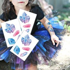 High quality, designy, skin safe, kids friendly and long lasting temporary tattoos with free worldwide shipping from trusted 5 star rated DUCKY STREET Etsy store. *YOU WILL GET 3 TATTOOS IN COMMON CELLO BAG* Tattoo sheet size 6.4x9 cm 4 gems on each sheet, 12 gems in total Made using the