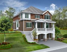 For the Front Sloping Lot - 2357JD | Architectural Designs - House Plans