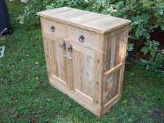 Built from reclaimed cypress fence boards Cypress Wood, Fence Boards, House Yard, Wood Cabinets, Reuse, Wood Projects, Repurposed, Bungalow Ideas, Recycling