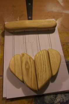 DIY Wooden Heart Wind Chime. Or any shapes/scraps!
