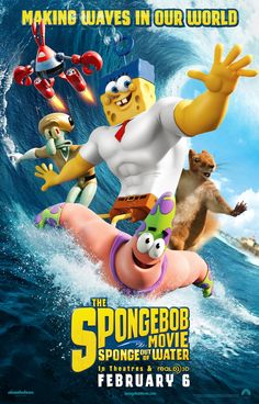 Poster from the movie SpongeBob: Sponge Out of Water.