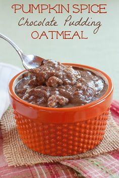 Pumpkin Spice Chocolate Pudding Oatmeal