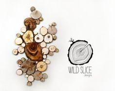 Decoración de madera Luna escultura Wedding por WildSliceDesigns