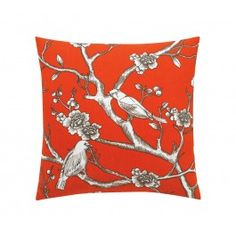 VINTAGE BLOSSOM PERSIMMON PILLOW,$90.00