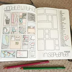 Page one of my #doodlewithusinseptember spread. Hope y'all like it ❤️ PS. I'm thinking of starting a YouTube channel  Would be fun, right? . . . #doodle #doodlechallenge #doodleaday #drawing #backtoschool #september #bulletjournal #bulletjournaling #bulletjournaljunkies #bujo #bujojunkies #bujocommunity #bujobeauty #planner #planneraddict #plannercommunity #organized #organization #love  #leuchtterm1917