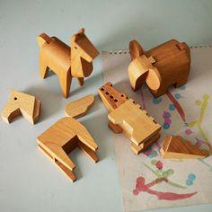 Wooden Interlock Animal Puzzles - Rowen and Wren Wooden Elephant, Wooden Horse, Animal Puzzle, Natural Toys, Wooden Animals, Woodworking Toys, Puzzle Toys, Wooden Puzzles, Wood Toys