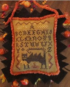 Wicked Cat Sampler - Cross Stitch Pattern